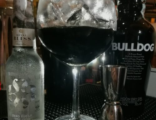 Bulldog gin, Royal Bliss Zero Sugar e Gum nero
